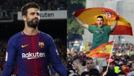 Кто победит в конфликте Жерара ПИКЕ (слева) и испанских болельщиков?