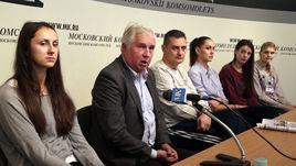 "Вчера. Москва. Пресс-конференция ЖВК ""Динамо""."