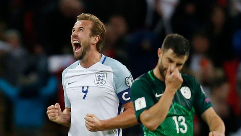 Четверг. Лондон. Англия - Словения - 1:0. Автор победного гола Харри КЕЙН. Фото AFP