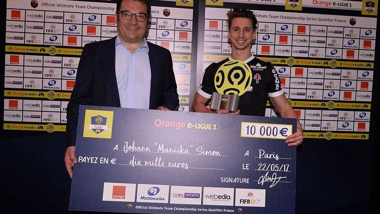 Йоан 'Maniika' Симон - действующий чемпион e-Ligue 1. Фото orange-eligue1.com