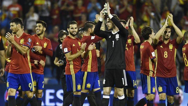 Сегодня. Аликанте. Испания - Албания - 3:0. Команда Хулена Лопетеги пробилась в финальную часть чемпионата мира. Фото AFP