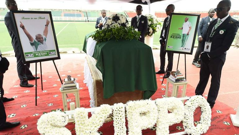 Похороны Стивена КЕШИ. Фото AFP