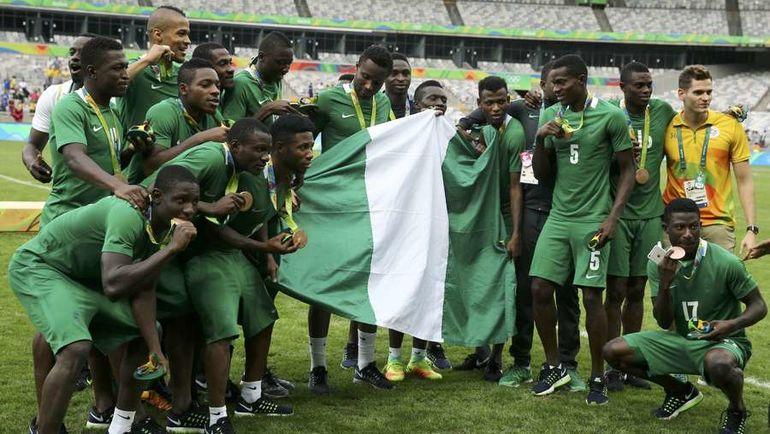 Нигерийцы с бронзовыми медалями Олимпиады. Фото REUTERS