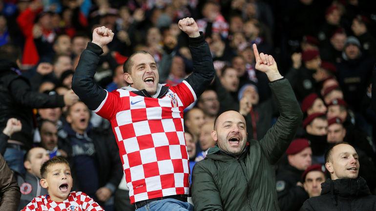 Болельщики сборной Хорватии. Фото REUTERS