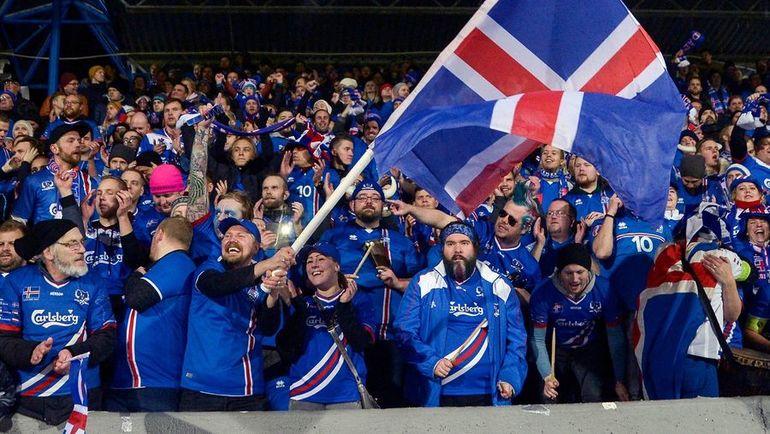 Понедельник. Рейкьявик. Исландия - Косово - 2:0. Исландцы впервые вышли на чемпионат мира. Фото AFP