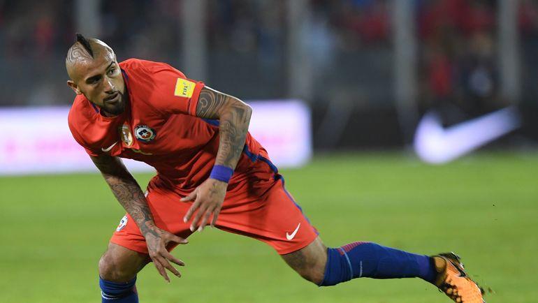 Нападающий сборной Чили Артуро ВИДАЛЬ. Фото AFP