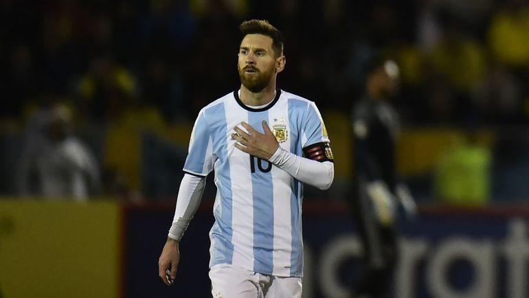 Вторник. Кито. Эквадор - Аргентина - 1:3. Лионель МЕССИ. Фото AFP