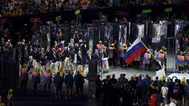 5 августа 2016 года. Рио-де-Жанейро. Сборная России во время церемонии открытия Олимпийских игр.