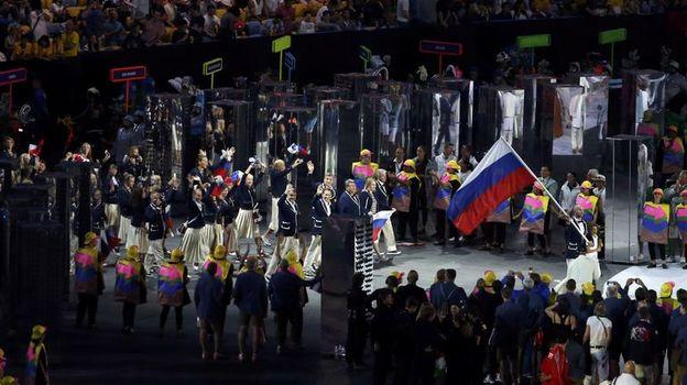 5 августа 2016 года. Рио-де-Жанейро. Сборная России во время церемонии открытия Олимпийских игр. Фото Reuters