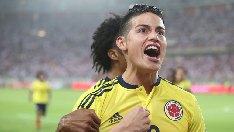 Вторник. Лима. Перу - Колумбия - 1:1. Эмоции Хамеса РОДРИГЕСА. Фото REUTERS