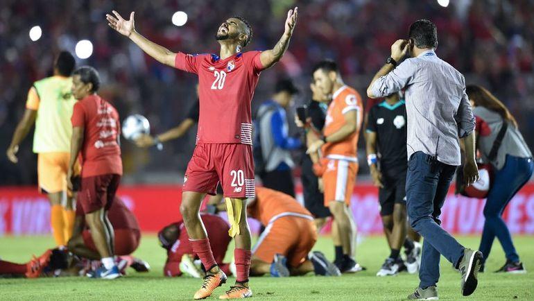 Панама - одна из главных сенсаций отбора - окажется при жеребьевке в четвертой группе. Фото AFP