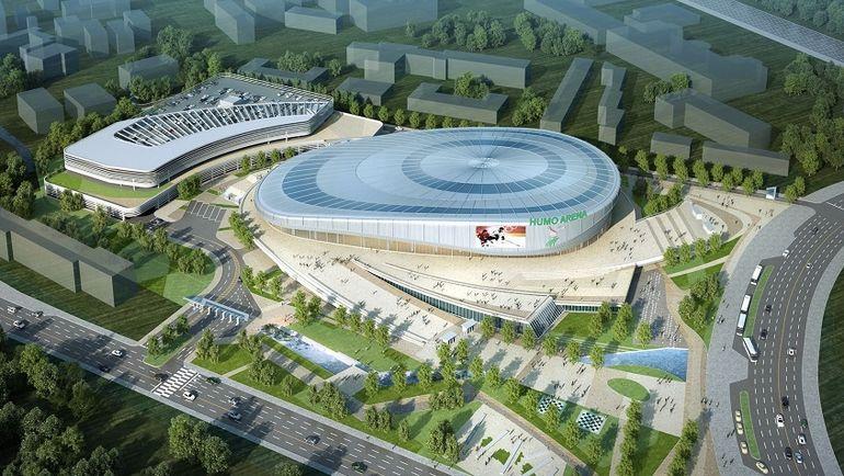 В Ташкенте строят ледовый комлекс Humo Arena. Фото Facebook Humo Arena