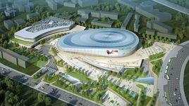 В Ташкенте строят ледовый комлекс Humo Arena.