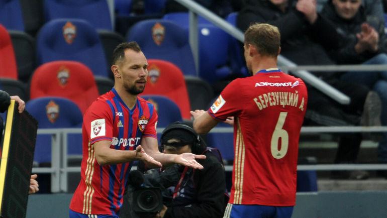 Сергей ИГНАШЕВИЧ (слева) и Алексей БЕРЕЗУЦКИЙ. Фото Алексей ИВАНОВ