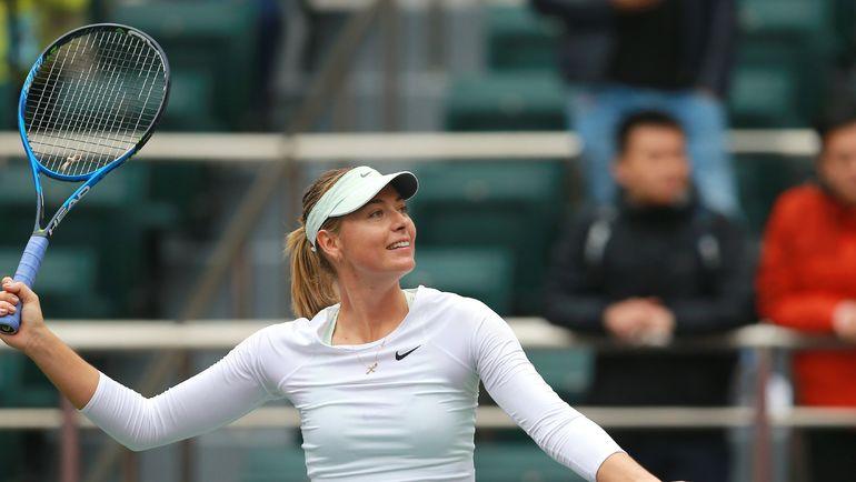 Сегодня. Тяньцзинь. Мария ШАРАПОВА одолела Арину Соболенко и выиграла первый турнир после дисквалификации. Фото AFP
