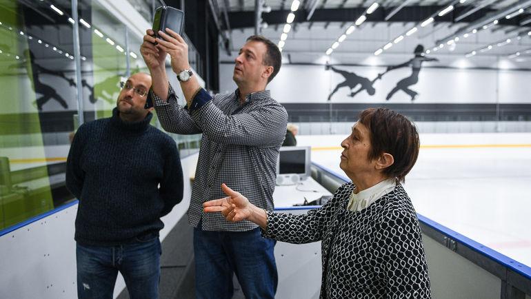 "Тамара МОСКВИНА, Александр КРУЖКОВ (слева) и Юрий ГОЛЫШАК. Фото Дарья ИСАЕВА, ""СЭ"""