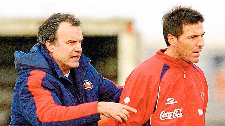 Марсело БЬЕЛСА (слева) и Эдуардо БЕРИССО. Фото Apuntes de Rabona