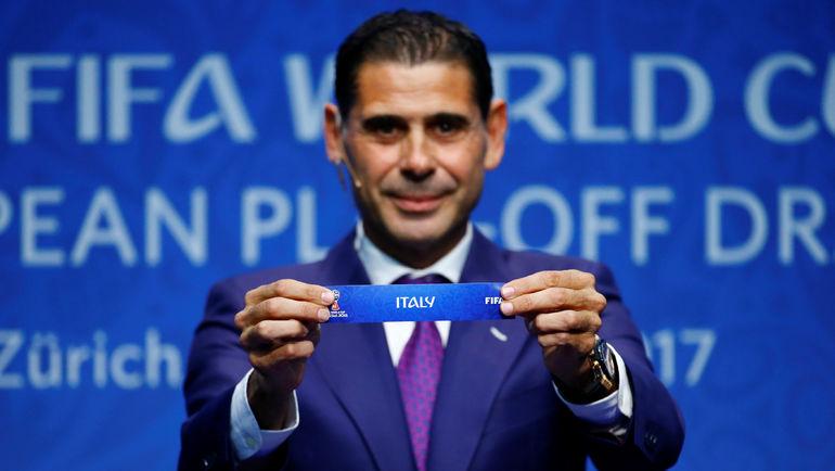 Сегодня. Цюрих. Фернандо ЙЕРРО определяет судьбу Италии в стыковых матчах ЧМ-2018. Фото REUTERS