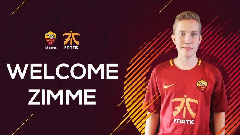 "Симон ""Zimme"" Нюстедт подписал контракт с ""Ромой"". Фото twitter.com/RomaeSports"