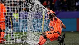 """Вторник. Марибор. """"Марибор"""" - """"Ливерпуль"""" - 0:7. Забивая свой второй и четвертый ливерпульский гол, Мохамад САЛАХ сам оказался в сетке ворот."""