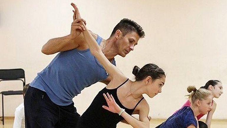 Евгения МЕДВЕДЕВА и хореограф Алексей ЖЕЛЕЗНЯКОВ. Фото Михаил ШАРОВ