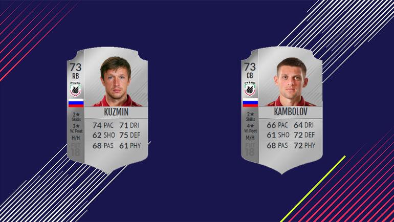 Карточки Олега Кузьмина и Руслана Камболова.