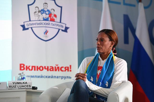 Двукратная олимпийская чемпионка по волейболу Юмилка РУИЗ. Фото ОКР