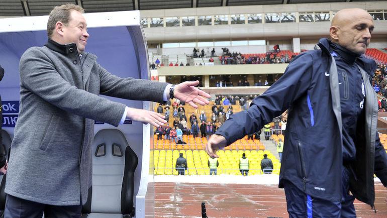 2012 год. Леонид СЛУЦКИЙ (слева) и Лучано СПАЛЛЕТТИ. Фото Алексей ИВАНОВ
