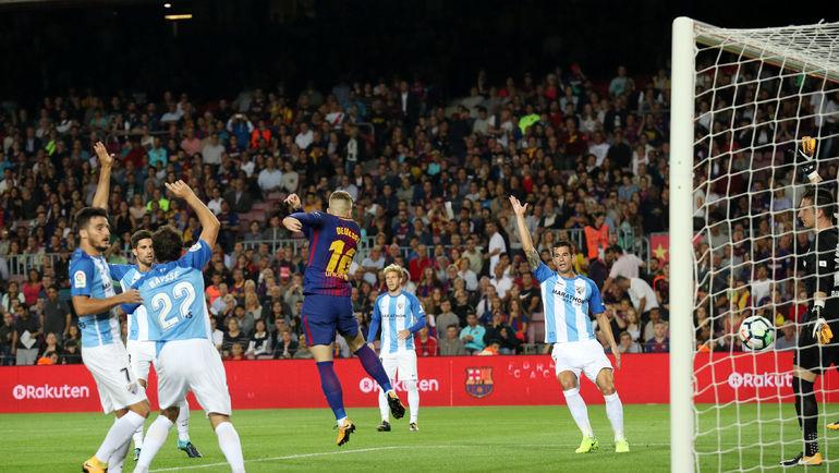 "Суббота. Барселона. ""Барселона"" - ""Малага"" - 2:0. 2-я минута. Гол Жерара ДЕУЛОФЕУ. Фото REUTERS"