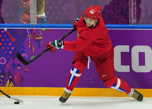 Нападающий сборной России Александр БУРМИСТРОВ. Фото Александр ФЕДОРОВ, «СЭ»