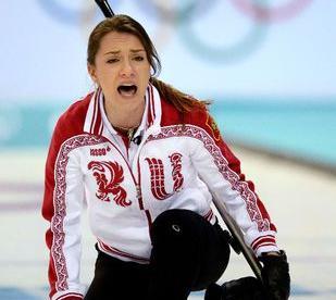 Скип сборной России Анна СИДОРОВА. Фото AFP