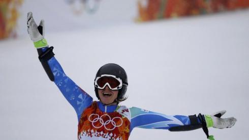 Тина Мазе - двукратная олимпийская чемпионка Сочи