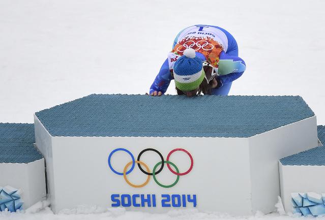 Словенская горнолыжница Тина МАЗЕ. Фото AFP