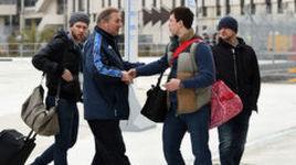Сегодня. Сочи. Игроки сборной России из НХЛ покидают Олимпиаду.