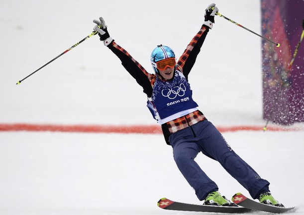 Сегодня. Сочи. Мариэль ТОМПСОН завоевала золотую медаль Олимпиады в Сочи в ски-кроссе Фото AFP
