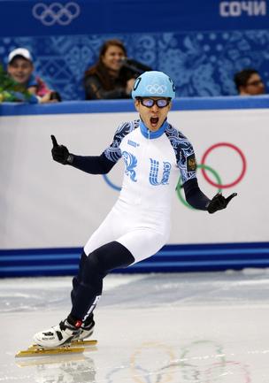 Сегодня. Сочи. Виктор АН - олимпийский чемпион Сочи-2014 на дистанции 500 м. Фото AFP