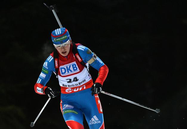 Двукратный серебряный призер Олимпиады в Сочи Ольга ВИЛУХИНА. Фото AFP