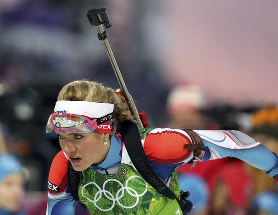 Серебряная призерка Сочи-2014 Габриэла СОУКАЛОВА. Фото Reuters