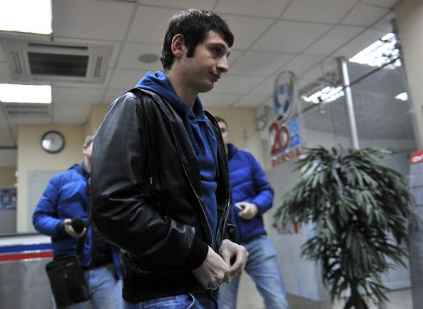Сегодня. Москва. Дом футбола. Алан ДЗАГОЕВ идет на КДК. Фото Алексей ИВАНОВ, «СЭ»