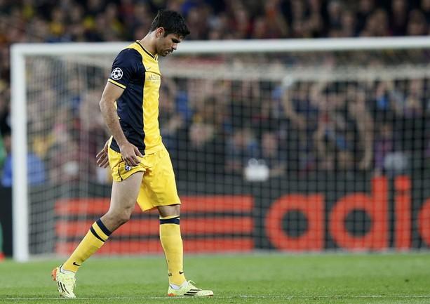 "Нападающий ""Атлетико"" Диегу КОСТА. Фото Reuters"