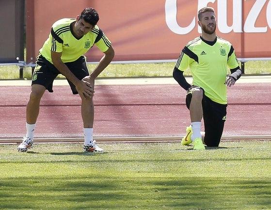 """Нападающий сборной Испании и """"Атлетико"""" Диегу КОСТА Фото AFP"""