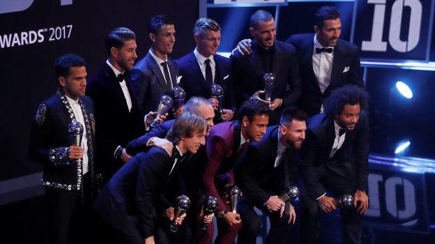 Символическая сборная 2017 года. Фото AFP