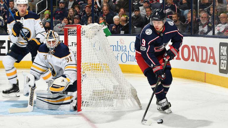 """Среда. Коламбус. """"Коламбус"""" - """"Баффало"""" - 5:1. Артемий ПАНАРИН (№9). Фото NHL.com"""