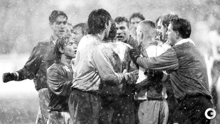 29 октября 1997 года. Москва. Россия - Италия - 1:1. Битва в Петровском парке закончилась вничью.