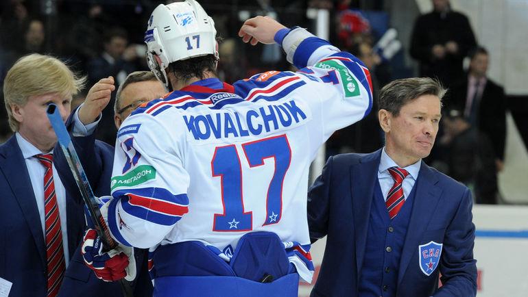 Илья КОВАЛЬЧУК (№17) и Вячеслав БЫКОВ. Фото Никита УСПЕНСКИЙ