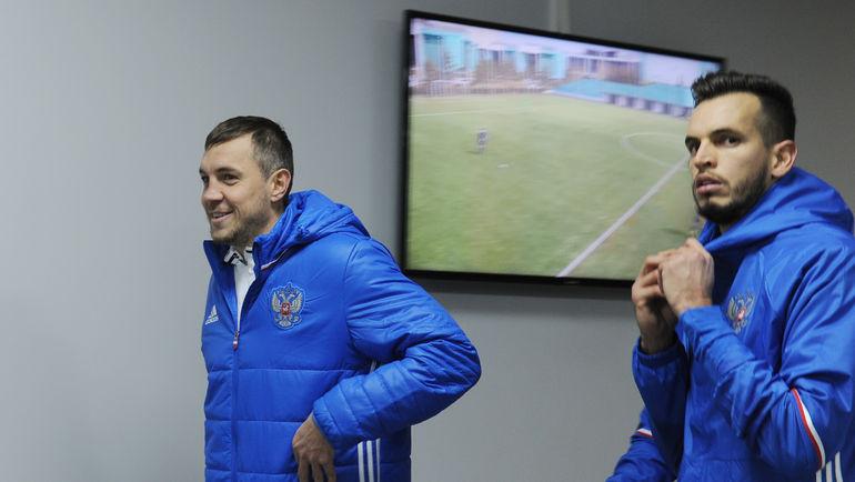 """Артем ДЗЮБА (слева) и ГИЛЬЕРМЕ так и не стали одноклубниками. Фото Александр ФЕДОРОВ, """"СЭ"""""""