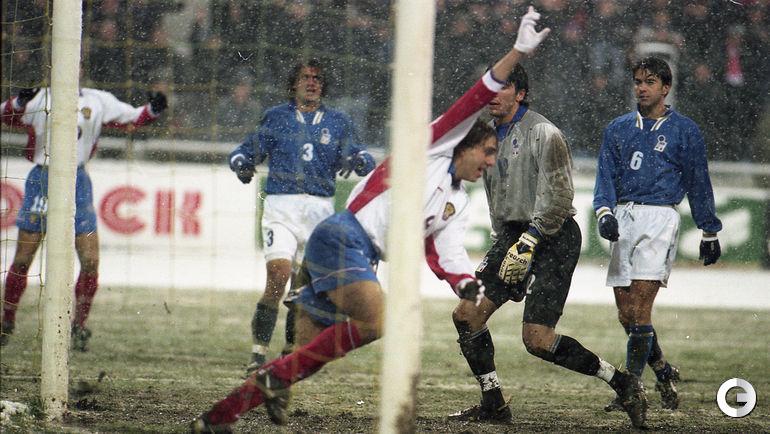 29 октября 1997 года. Москва. Россия - Италия - 1:1. Автогол Фабио Каннаваро в ворота Джанлуиджи БУФФОНА.