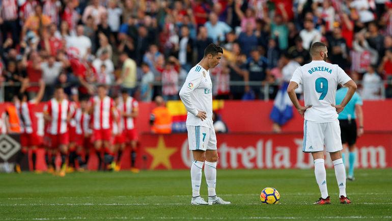 """Воскресенье. Жирона. """"Жирона"""" - """"Реал"""" - 2:1. Мадридцы сенсационно уступают новичку ла лиги. Фото REUTERS"""