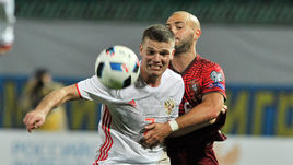 14 ноября 2015 года. Краснодар. Россия – Португалия – 1:0. Игорь ДЕНИСОВ.