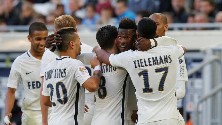 """""""Монако"""" не первый год продает своих лидеров, но по-прежнему идет в лидерах чемпионата Франции. Фото REUTERS"""